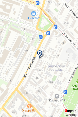 CASIO Дальний Восток на карте Хабаровска