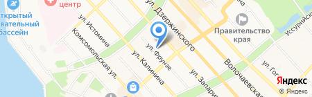 Нотариус Рябцева А.В. на карте Хабаровска