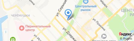 Октава на карте Хабаровска