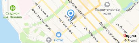 Учебно-методический центр на карте Хабаровска
