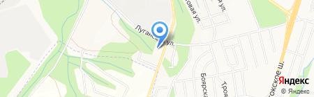 Бани на Облепиховой на карте Хабаровска