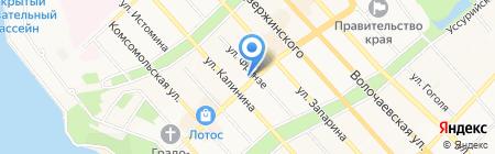 Солярис на карте Хабаровска
