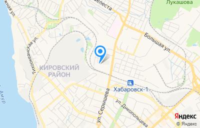 Местоположение на карте пункта техосмотра по адресу г Хабаровск, ул Воронежская, д 3