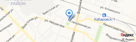 Феррит на карте Хабаровска
