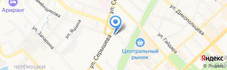 А100 на карте Хабаровска