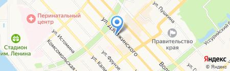 Биарриц на карте Хабаровска