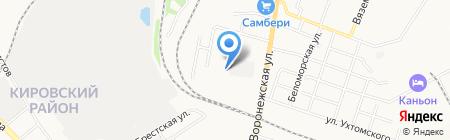 Лига шин на карте Хабаровска