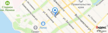 Галиотис Тревел на карте Хабаровска
