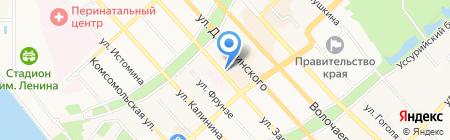 Вивея на карте Хабаровска