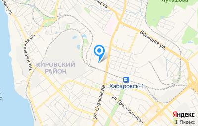 Местоположение на карте пункта техосмотра по адресу г Хабаровск, ул Воронежская, д 1В литер а