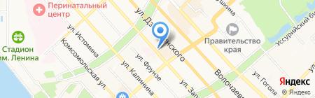 СКБ-банк на карте Хабаровска