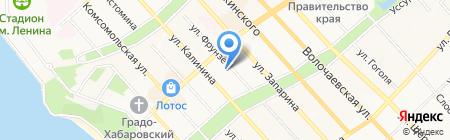Соя на карте Хабаровска