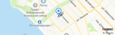 Восток на карте Хабаровска