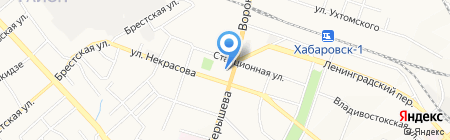 Средняя общеобразовательная школа №15 на карте Хабаровска