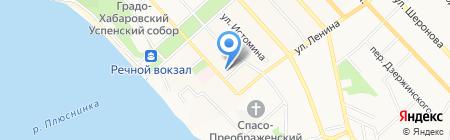 Базис ДВ на карте Хабаровска