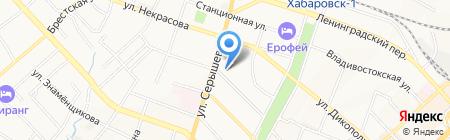 Формат Фуджи на карте Хабаровска