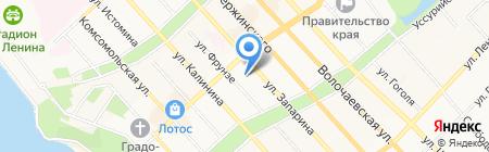 Великано на карте Хабаровска