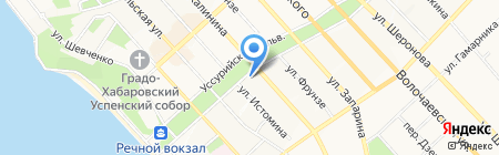 Вулкан на карте Хабаровска