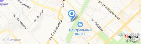 Отделенческая поликлиника на ст. Хабаровск-1 на карте Хабаровска