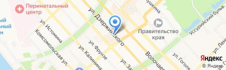 Милитари на карте Хабаровска
