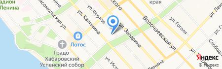 Синагога на карте Хабаровска