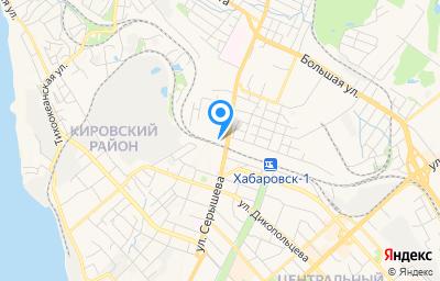 Местоположение на карте пункта техосмотра по адресу г Хабаровск, ул Воронежская, д 1