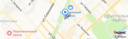 Центральная городская библиотека им. П. Комарова на карте Хабаровска