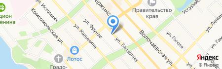 Отделение посольства Республики Беларусь в РФ в г. Хабаровске на карте Хабаровска