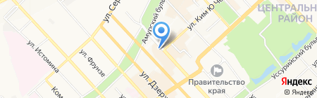 Стразы на карте Хабаровска
