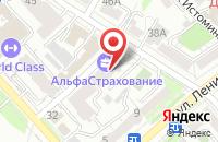 Схема проезда до компании АльфаСтрахование в Хабаровске