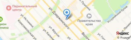 ЮР отдел на карте Хабаровска