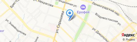 Гимназия №4 на карте Хабаровска