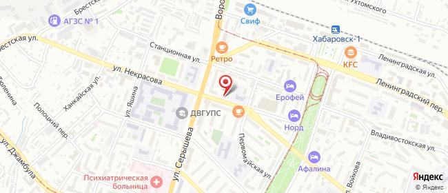 Карта расположения пункта доставки Lamoda/Pick-up в городе Хабаровск