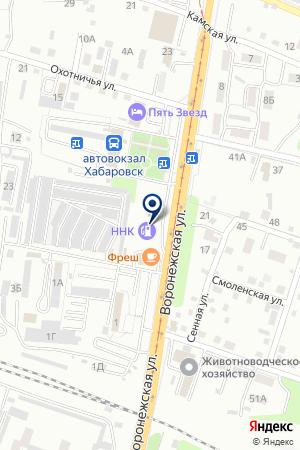 АЗС № 4 ТОРГОВАЯ КОМПАНИЯ ХАБАРОВСКНЕФТЕПРОДУКТ на карте Хабаровска