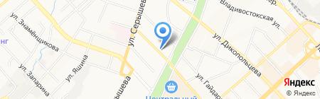 Адамант на карте Хабаровска