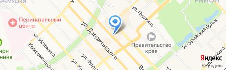 Хабаровский краевой колледж искусств на карте Хабаровска
