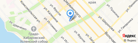 Отдел по защите прав потребителей на карте Хабаровска