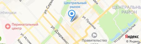 Альянс Туры.ру на карте Хабаровска