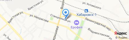 Полиграффъ на карте Хабаровска