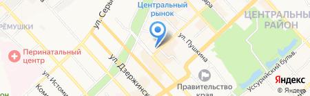 ДОСААФ на карте Хабаровска