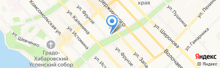 Кружка на карте Хабаровска