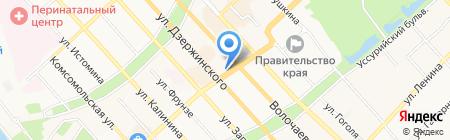 Sisley на карте Хабаровска