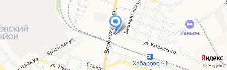 СоБоС на карте Хабаровска