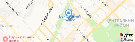 Файтер на карте Хабаровска