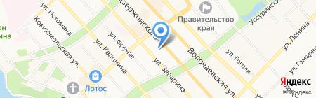 Телефоны на карте Хабаровска