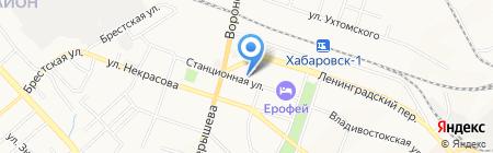 Гедеон на карте Хабаровска
