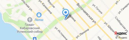 Учебно-методический центр по образованию на железнодорожном транспорте на карте Хабаровска