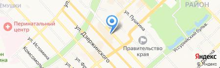 Принт-Р на карте Хабаровска