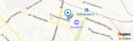 Аванд на карте Хабаровска