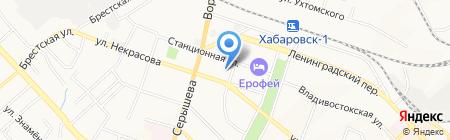 Контакт на карте Хабаровска